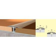 Пороги алюминиевые ламинированные Homis стык разноуровневый с дюбелем 40мм длина 0,9м