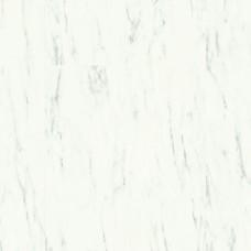 QUICK-STEP AMBIENT GLUE+ AMGP40136 МРАМОР КАРРАРСКИЙ БЕЛЫЙ  (ВИНИЛОВЫЙ ВЛАГОСТОЙКИЙ ЛАМИНАТ, КЛЕЕВАЯ ПЛИТКА ПВХ)